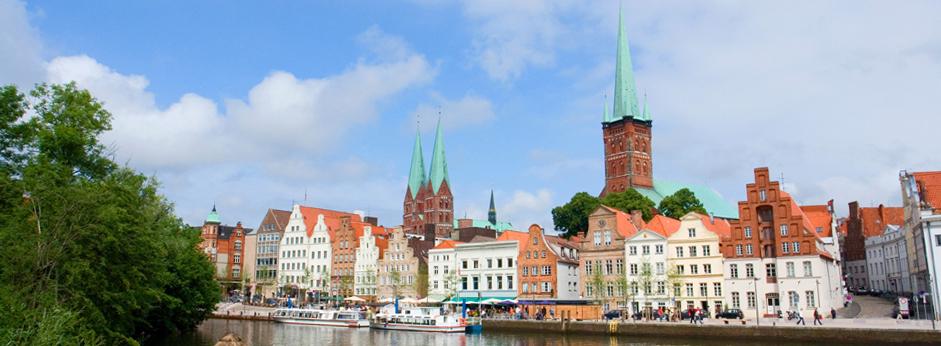 Bei einer Lübeck Stadtführung entdecken wir diesen Blick auf die Obertrave